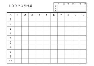 すべての講義 100マス計算 : ... 九九百ます計算(A5用紙-横